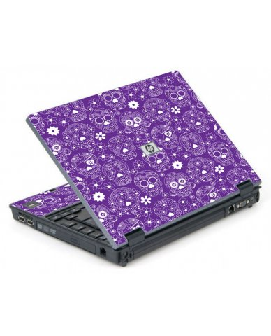 Purple Sugar Skulls 6710B Laptop Skin