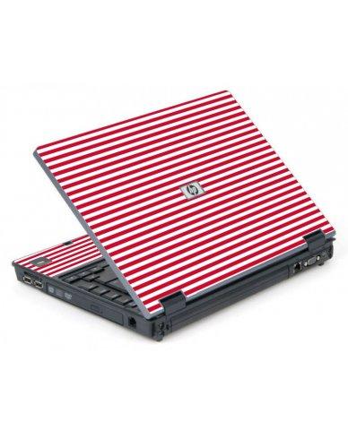Red Stripes 6710B Laptop Skin