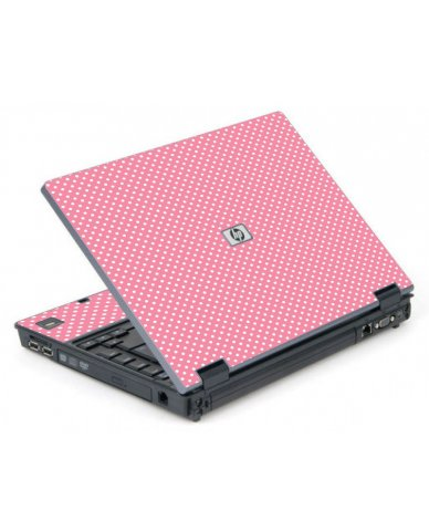 Retro Salmon Polka 6710B Laptop Skin