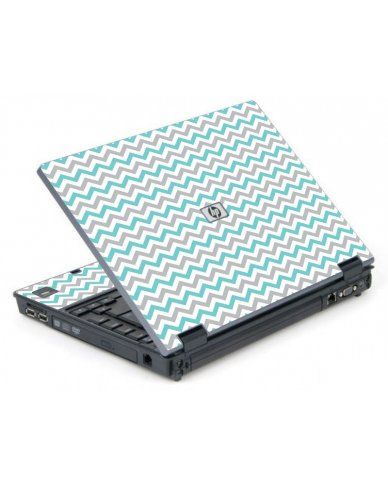 Teal Grey Chevron Waves 6710B Laptop Skin