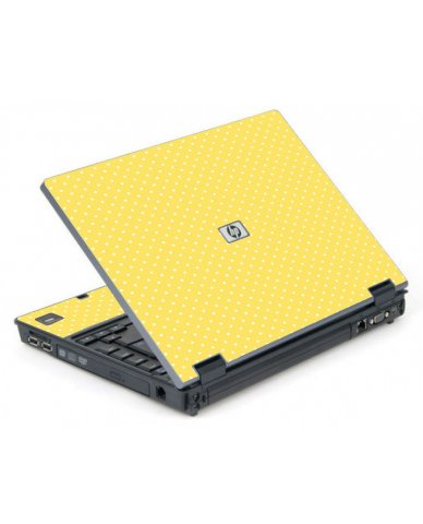Yellow Polka Dot 6710B Laptop Skin