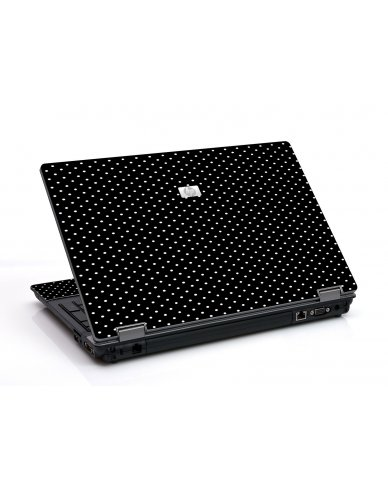 Black Polka Dots 6730B Laptop Skin