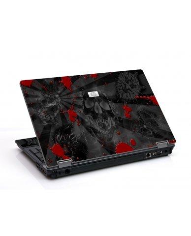 Black Skulls Red 6730B Laptop Skin
