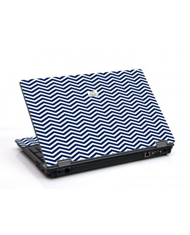 Blue Wavy Chevron 6730B Laptop Skin