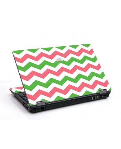 Green Pink Chevron 6730B Laptop Skin