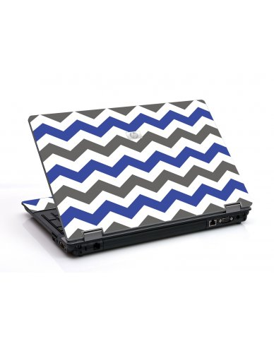Grey Blue Chevron 6730B Laptop Skin