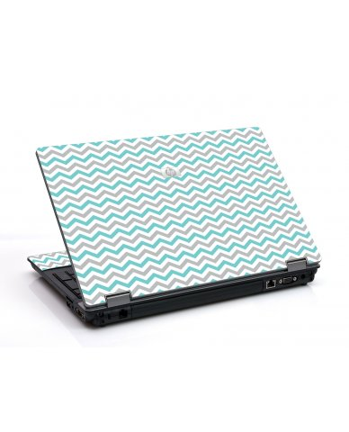 Teal Grey Chevron Waves 6730B Laptop Skin