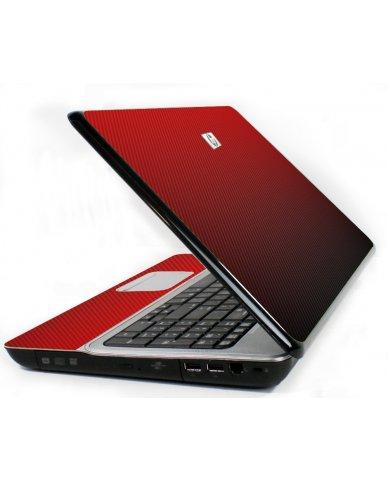 Red Carbon Fiber 6730S Laptop Skin