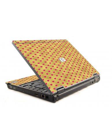 Gold Pink Hearts 6930P Laptop Skin