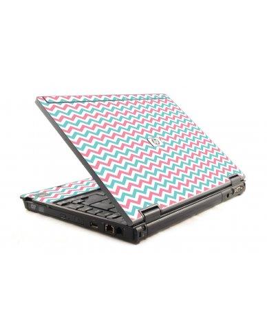 Pink Teal Chevron Waves 6930P Laptop Skin