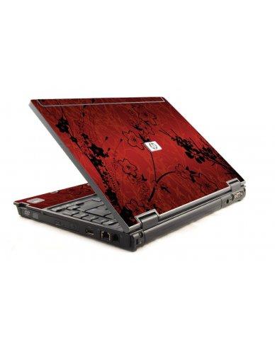 Retro Red Flowers 6930P Laptop Skin