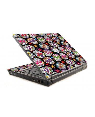 Sugar Skulls Black Flowers 6930P Laptop Skin