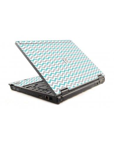 Teal Grey Chevron Waves 6930P Laptop Skin