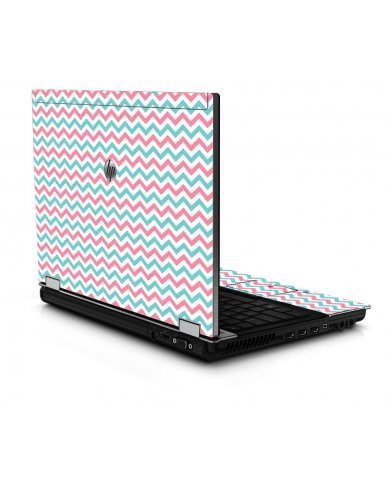 Pink Teal Chevron Waves 8440P Laptop Skin