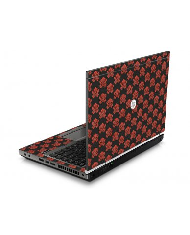 Black Flower Burst HP8460P Laptop Skin