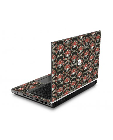 Flower Black Versailles HP8460P Laptop Skin
