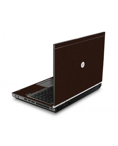 Brown Leather HP8460P Laptop Skin