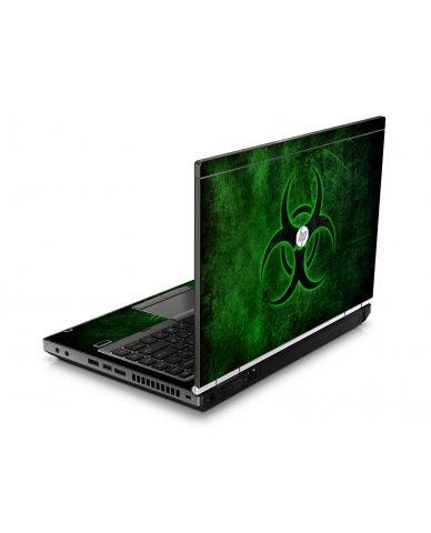 Green Biohazard HP8460P Laptop Skin