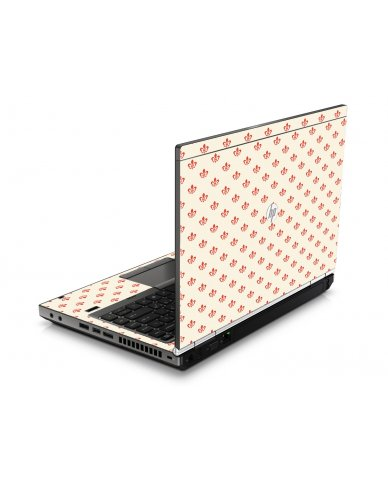 White And Pink Versailles HP8460P  Laptop Skin