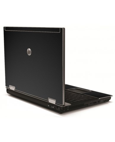 Black Carbon Fiber HP 8540W Laptop Skin