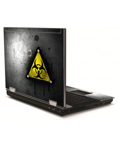 Black Caution HP 8540W Laptop Skin