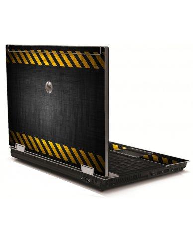 Black Caution Border HP 8540W Laptop Skin