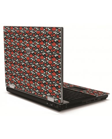 Black Red Roses HP 8540W Laptop Skin