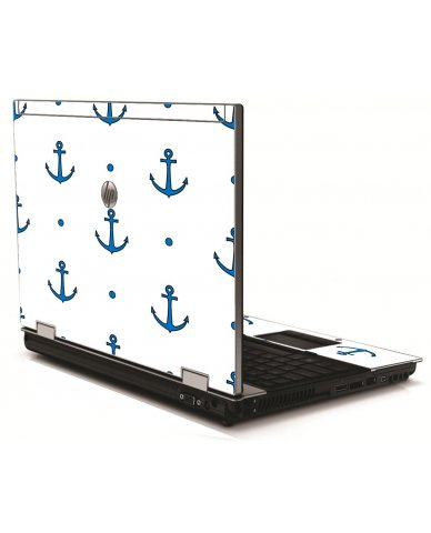 Blue Anchors HP 8540W Laptop Skin