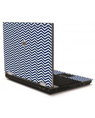 Blue Wavy Chevron HP 8540W Laptop Skin