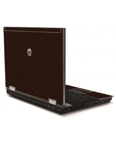 Brown Leather HP 8540W Laptop Skin