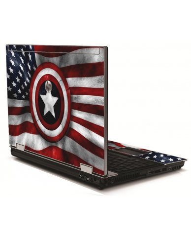 Capt America Flag HP 8540W Laptop Skin