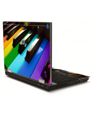 Colorful Piano HP 8540W Laptop Skin