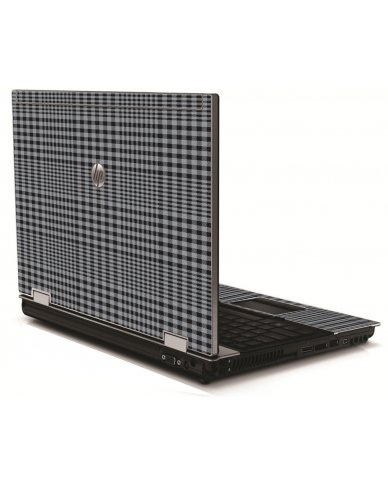 Darkest Grey Plaid 8540W Laptop Skin