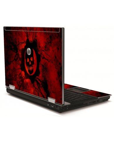 Dark Skull HP 8540W Laptop Skin