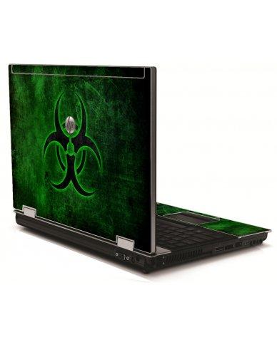 Green Biohazard HP 8540W Laptop Skin