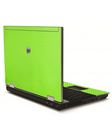 Green Carbon Fiber HP 8540W Laptop Skin