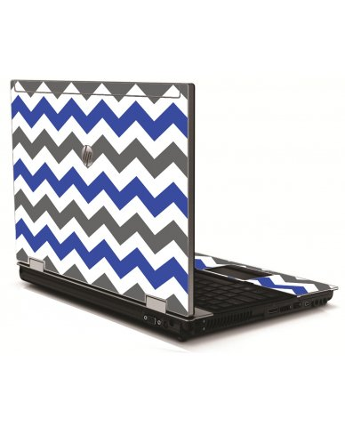 Grey Blue Chevron HP 8540W Laptop Skin