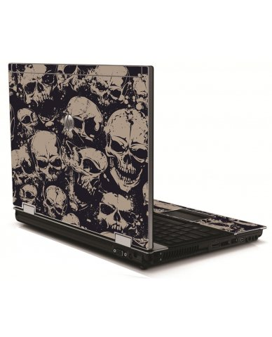 Grunge Skulls HP 8540W Laptop Skin
