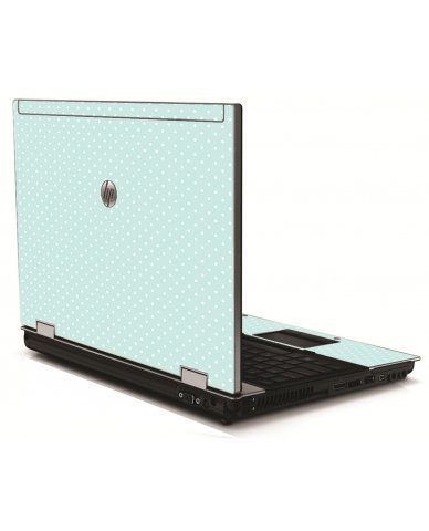 Light Blue Polka HP 8540W Laptop Skin