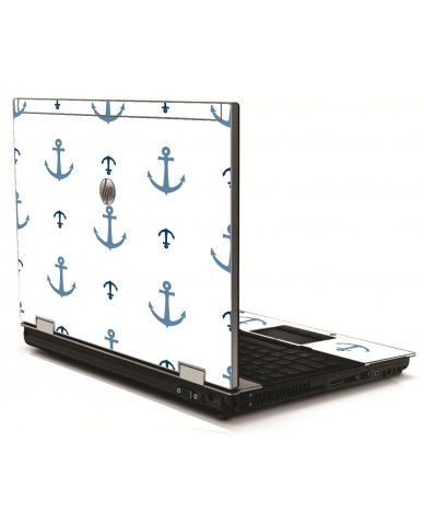 Multi Blue Anchors HP 8540W Laptop Skin
