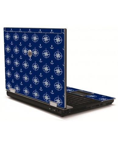 Nautical Anchors HP 8540W Laptop Skin