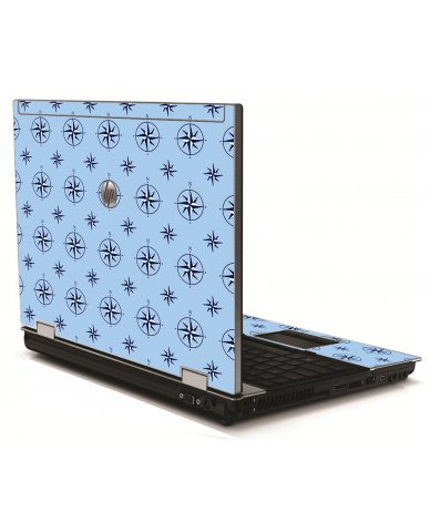 Nautical Blue HP 8540W Laptop Skin