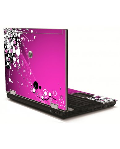 Pink Flowers HP 8540W Laptop Skin