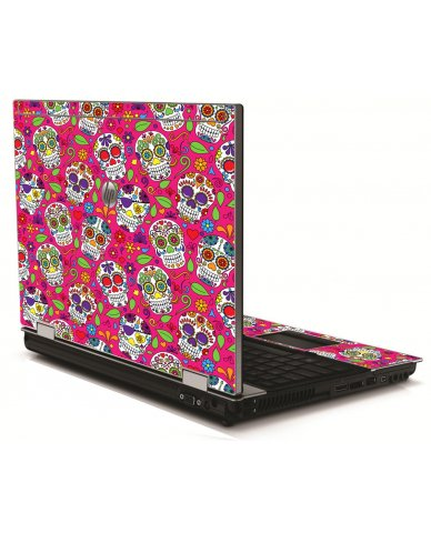 Pink Sugar Skulls HP 8540W Laptop Skin