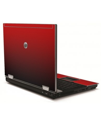 Red Carbon Fiber HP 8540W Laptop Skin