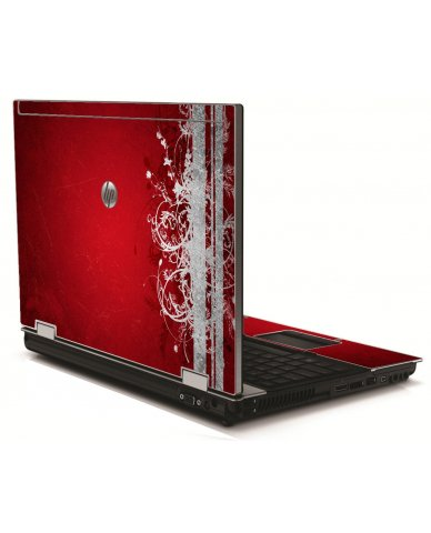 Red Grunge HP 8540W Laptop Skin