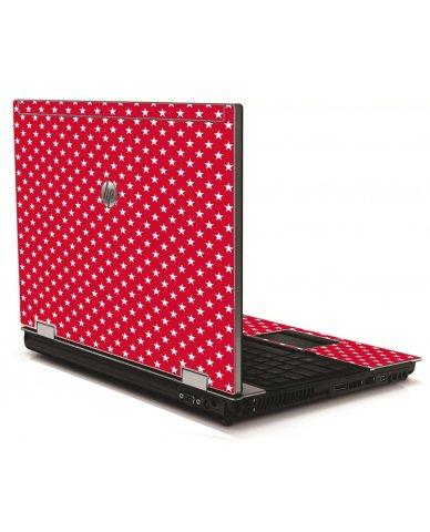 Red White Stars HP 8540W Laptop Skin