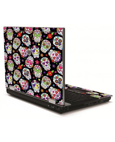 Sugar Skulls HP 8540W Laptop Skin