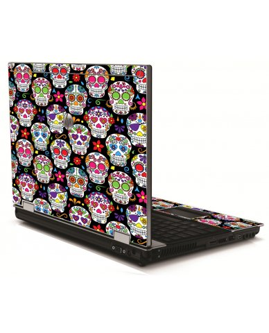 Sugar Skulls Seven HP 8540W Laptop Skin