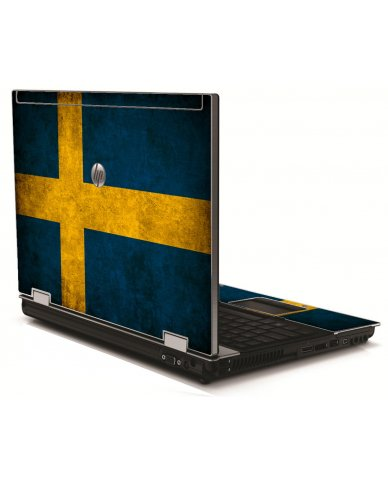 Swedish Flag HP 8540W Laptop Skin
